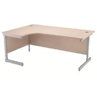 Jemini Maple 1600mm Cantilever L/H Desk