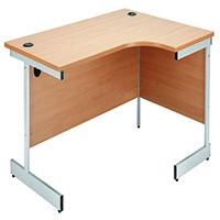 Jemini Beech 1600mm Cantilever R/H Desk