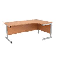 Jemini Oak 1600mm Cantilever R/H Desk