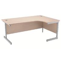 Jemini Maple 1600mm Cantilever R/H Desk