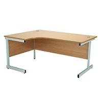 Jemini Beech 1800mm Cantilever L/H Desk