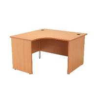 Jemini Beech 1200mm Panel End L/H Desk