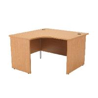 Jemini Oak 1200mm Panel End L/H Desk