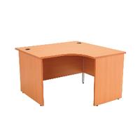 Jemini Beech 1200mm Panel End R/H Desk