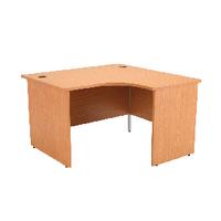 Jemini Oak 1200mm Panel End R/H Desk
