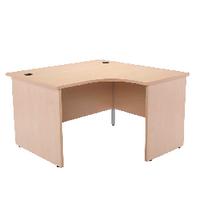 Jemini Maple 1200mm Panel End R/H Desk