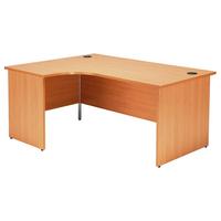 Jemini Beech 1600mm Panel End L/H Desk