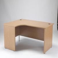 Jemini Oak 1600mm Panel End L/H Desk