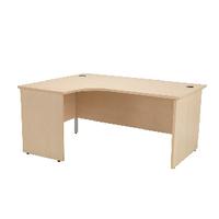 Jemini Maple 1600mm Panel End L/H Desk
