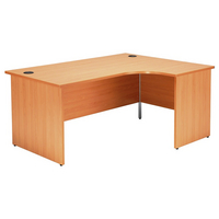 Jemini Beech 1600mm Panel End R/H Desk