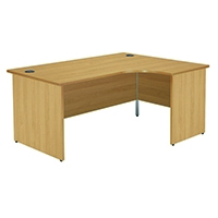 Jemini Oak 1600mm Panel End R/H Desk