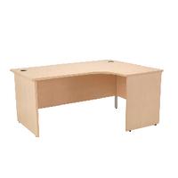 Jemini Maple 1600mm Panel End R/H Desk