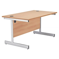 Jemini Beech 1200mm Cantilever Rect Desk