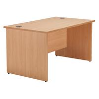 Jemini Beech 1200mm Panel End Rect Desk