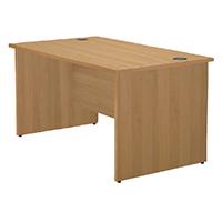 Jemini Oak 1200mm Panel End Rect Desk