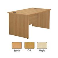 Jemini Maple 1200mm Panel End Rect Desk