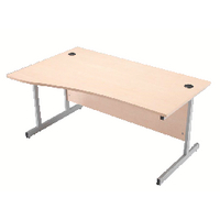 Jemini Maple 1600mm L/H Cantilever Desk