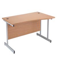 Jemini Oak 1600mm R/H Canti Wave Desk