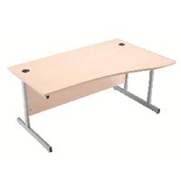 Jemini Maple 1600mm R/H Canti Wave Desk