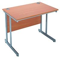 Jemini Bav/Beech 1200mm Rect Canti Desk