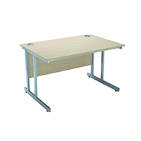 Jemini W/Maple 1200mm Rect Cantilvr Desk