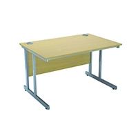 Jemini Fer/Oak 1500mm Rectglr Canti Desk