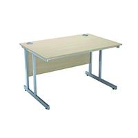 Jemini Maple 1500mm Rect Cantilever Desk