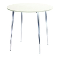 FF Arista Round Bistro Table Wh/Chrome