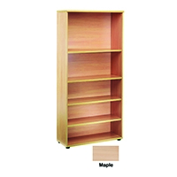 FF Jemini 1800mm Bookcase 4 Shelves Wh