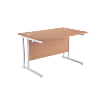 Fr First Rect Cant Desk 1400 Oak White