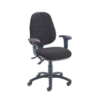Fr First Hb Oper Chair Charcoal Adj Arm