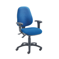 Fr First Hb Operator Chair Blue Adj Arm