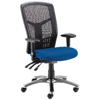 FF Avior 24Hour Hback Mesh Op Chair Blue
