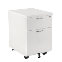 Fr First Mobile Under Desk Ped 2dr White