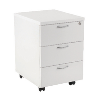Fr First Mobile Under Desk Ped 3dr White