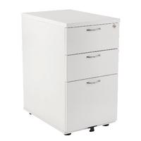 Fr First Desk High Ped 3dr 600mm White