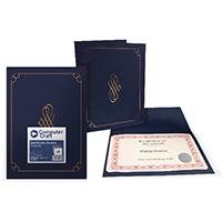 C/Craft Certificate Blue Cover 290g Pk5