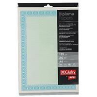 Decadry Turq/Blue A4 Cert Paper Pk25