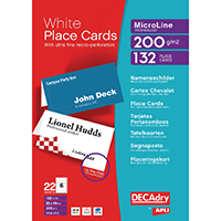 Decadry Perf Place Cards 85x46mm Pk132
