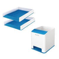 Leitz WOW LetterTray Blue x 2 FOC PenPot