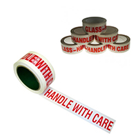 Printed Tape Handle With Care Wht Red P6