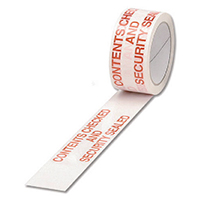 Printed Tape Contents Checked Wht Red P6