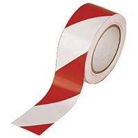 Vinyl White/Red 50mmx33m Hazard Tape Pk6