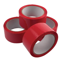 Red Poly Tape 50mmx66m Pk6