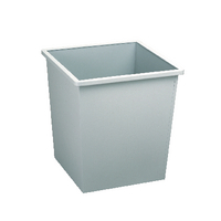 Avery Steel Bin Square 27Ltr Gry 631LGRY