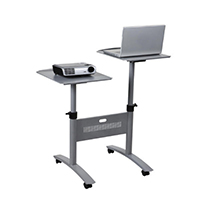 Nobo Grey LCD DLP Trolley Twin Platform