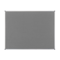 Nobo Elipse Grey 900x600mm Noticeboard