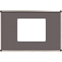 Nobo Elipse Grey 1200x900mm Feltboard