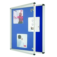 Nobo Lockable Blue 1265x965 Visual Board