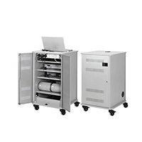 Nobo Grey Projection Trolley Cabinet